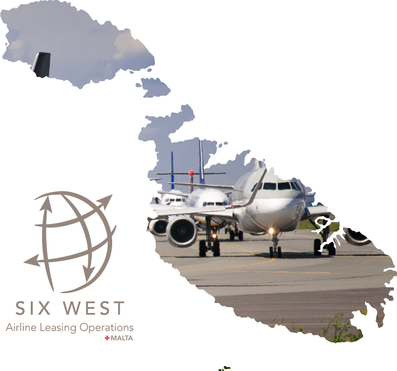 Graphic of the Maltese Islands with a fleet of planes masked inside