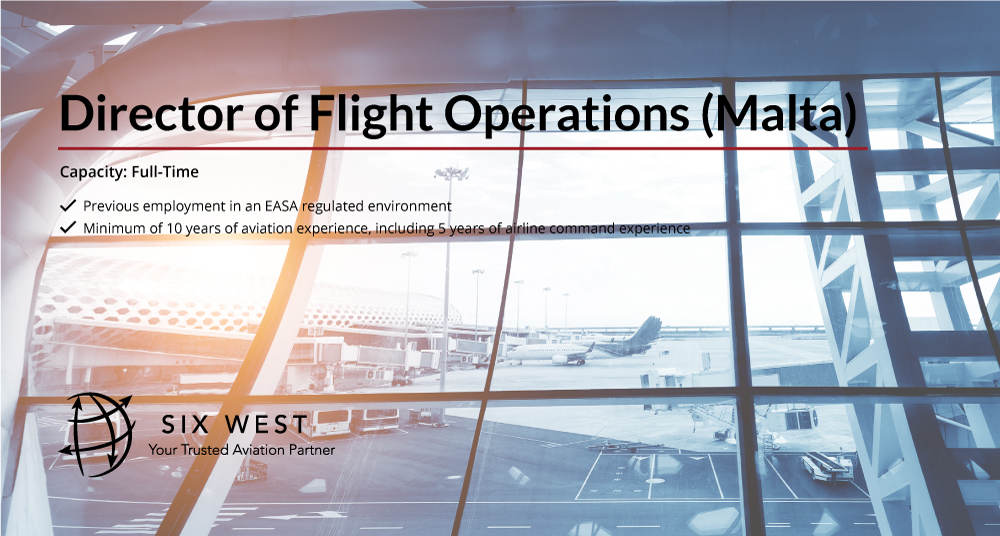 Director of Flight Operations wanted in Sliema, Malta