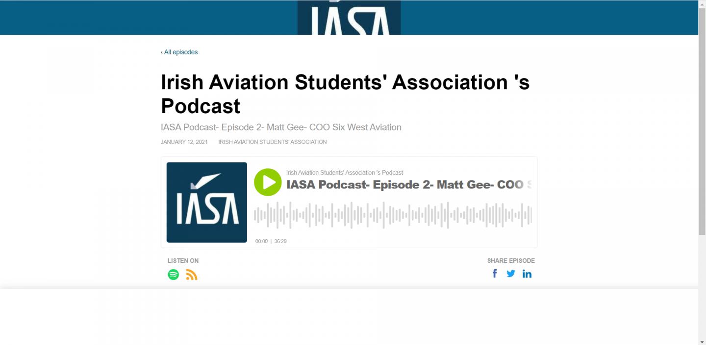 Podcast: Matthew Gee talks to the Irish Aviation Students' Association (IASA) 1